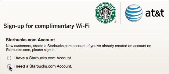 starbucks att get wifi account 3