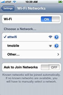 starbucks attwifi iphone choose att wifi
