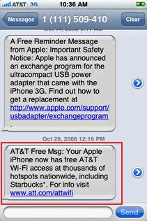starbucks attwifi iphone free msg