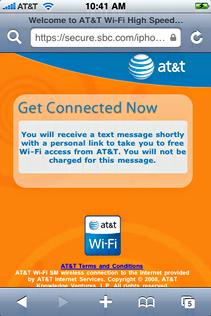 starbucks attwifi iphone sending txt