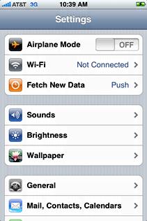 starbucks attwifi iphone settings