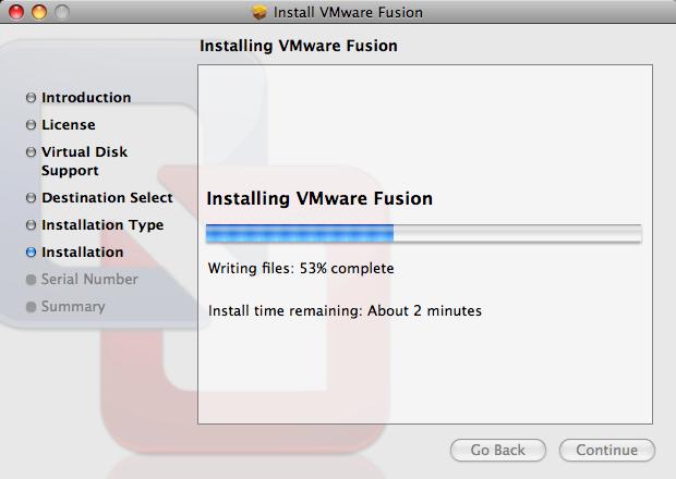 uninstall vmware fusion installing