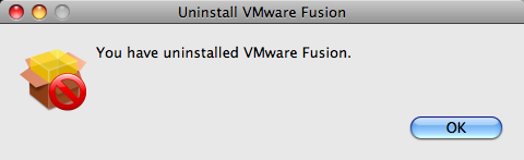 uninstall vmware fusion uninstalled