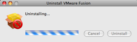 uninstall vmware fusion uninstalling