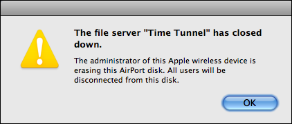 airport time capsule shut down