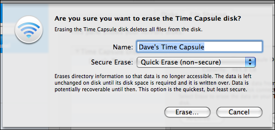 airport utility manual setup disks erase