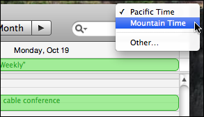 apple ical timezone settings