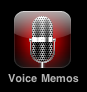 apple iphone 3 voice memos icon