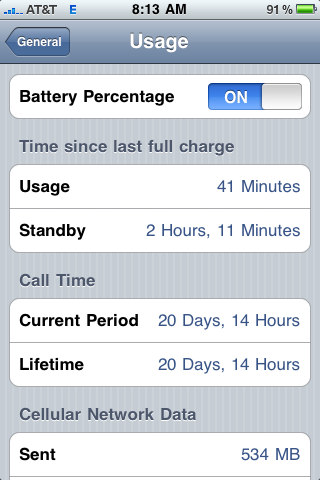 how can i see percentage charge on my iphone battery
