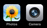 apple iphone camera photos icons