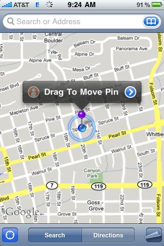 apple iphone google map pin drop 81