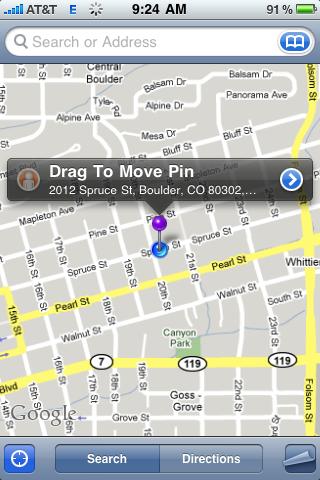apple iphone google map pin drop 82