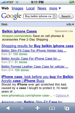 apple iphone google mobile shopping 3