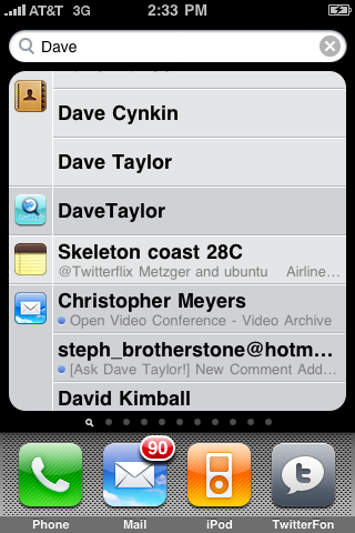apple iphone spotlight dave full view