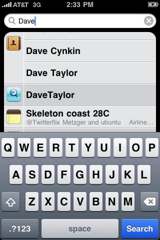 apple iphone spotlight dave