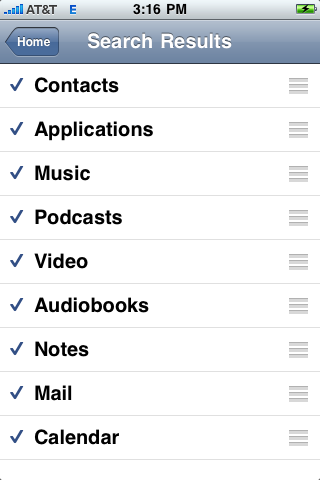 apple iphone spotlight settings preferences config