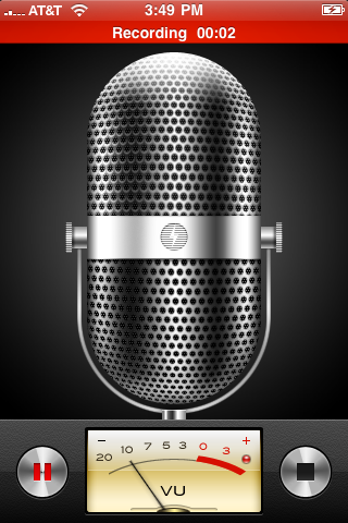apple iphone voice memos recording