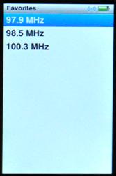 apple ipod nano 5g fm radio favorites