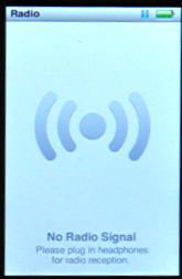 apple ipod nano 5g fm radio no signal