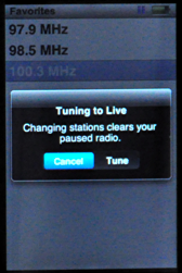 apple ipod nano 5g fm radio paused radio