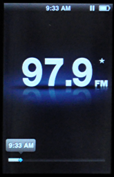 apple ipod nano 5g fm radio paused