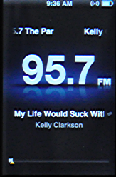 apple ipod nano 5g fm radio song title
