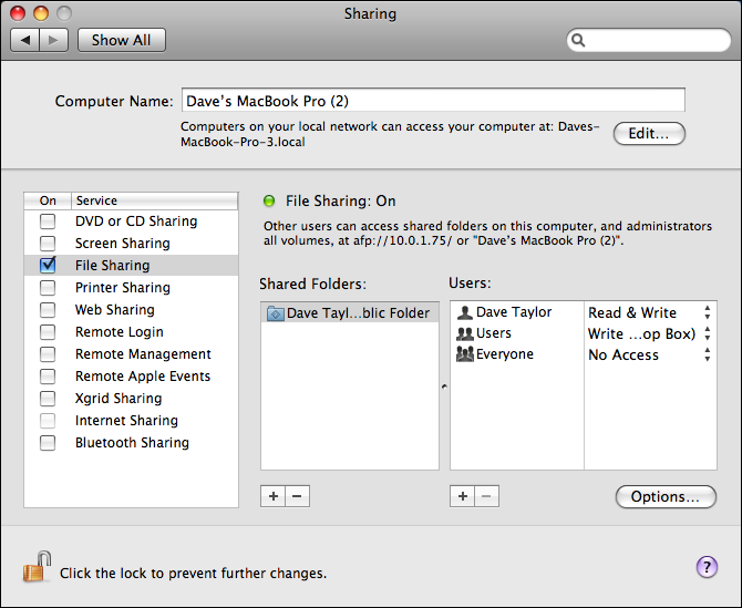 How do i change my macs name on the network ask dave taylor apple mac system preferences sharing ccuart Choice Image