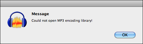 audacity no mp3 library