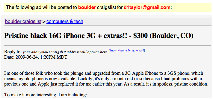 craigslist post to classifieds enter listing preview 1