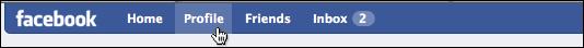facebook navbar top left profile