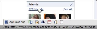 facebook profile friends show url