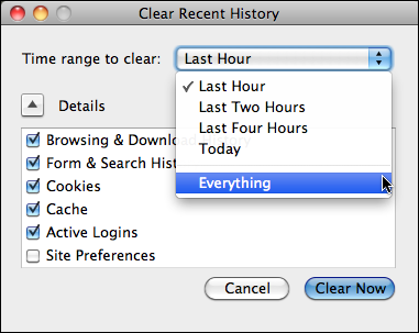 how to clear firefox browser history