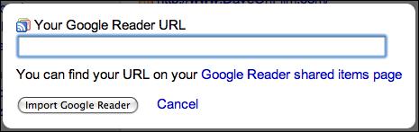 friendfeed profile services google reader