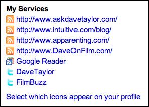 friendfeed profile services list