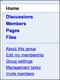 google groups right nav
