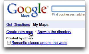 google maps create new map