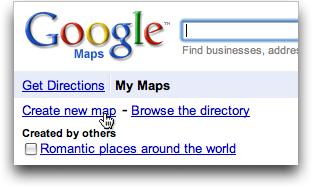 google maps create new map