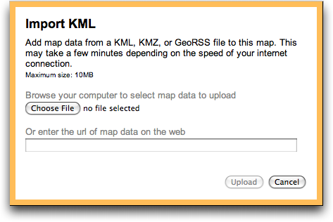 kml - Displaying local file in Google Maps? - Geographic