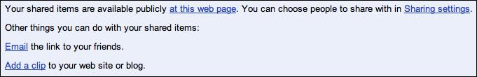 google reader shared items url