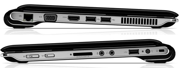 hp pavilion dv2 side views