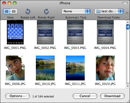 image capture iphone previews