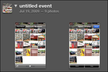 iphoto event photos
