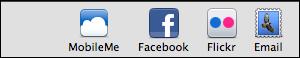 iphoto external site toolbar