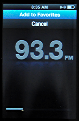ipod nano 5g fm radio add favorites