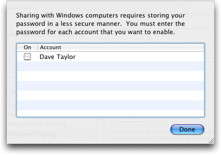 mac preferences sharing account info