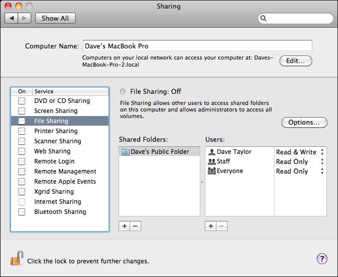 mac preferences sharing file sharing