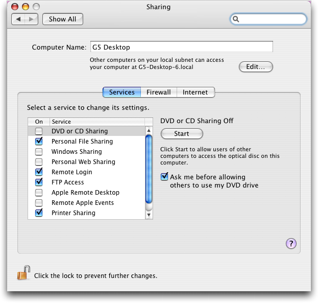 mac preferences sharing