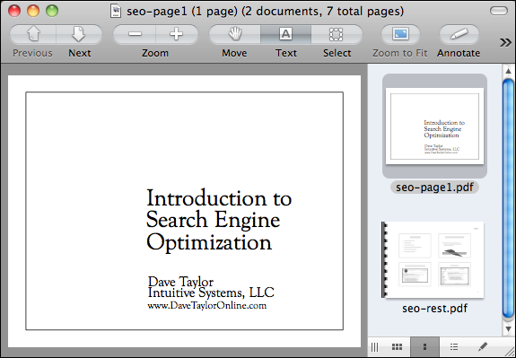 how to get two pdf documents on one page