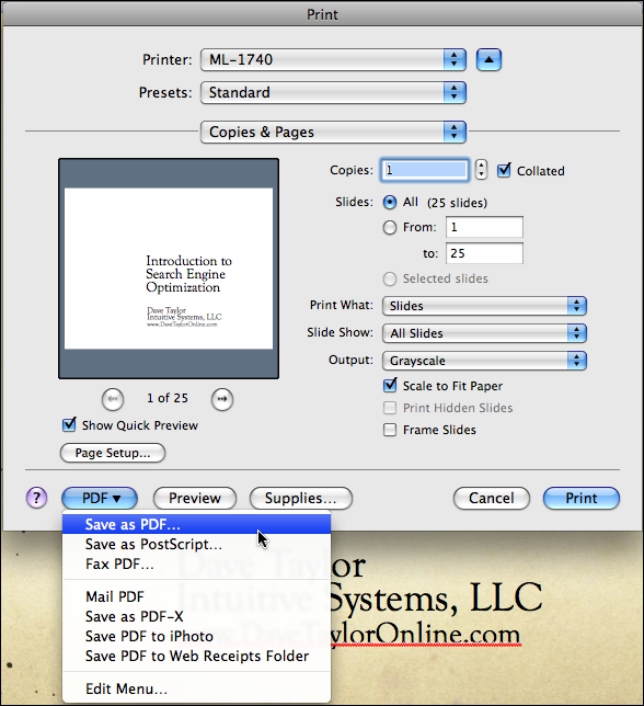 powerpoint file print save as pdf