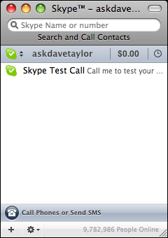 skype new account signed in
